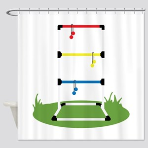 Backyard Game Shower Curtain